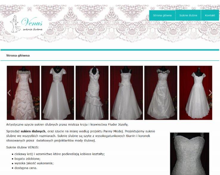 strona internetowa suknie slubne venus