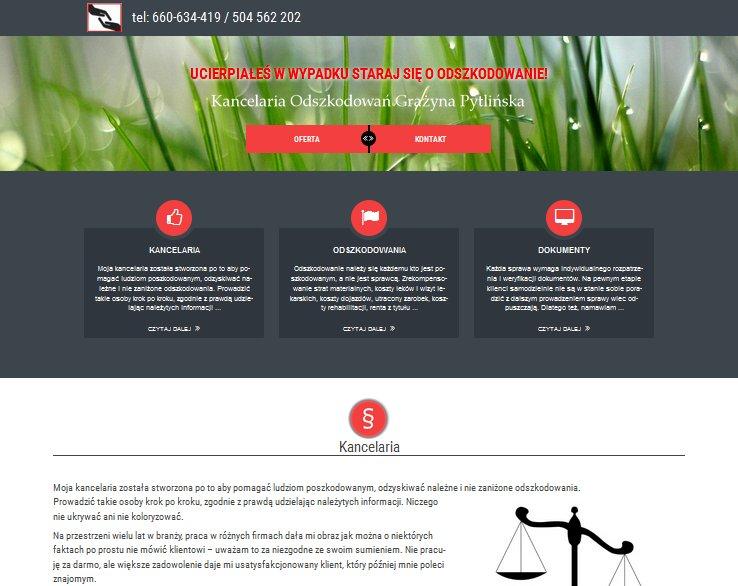 strona internetowa odszkodowania grazyna
