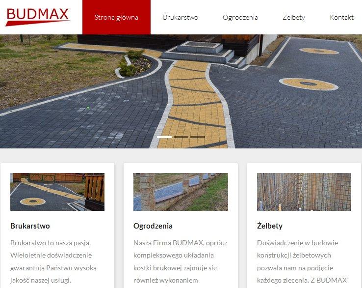 strona internetowa budmax