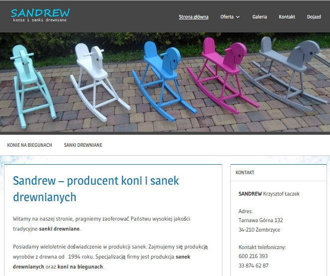 Strona internetowa sandrew